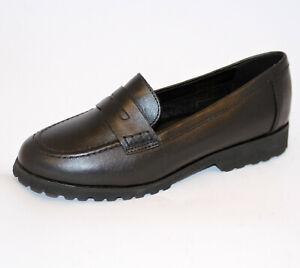Cinzia Soft scarpa mocassino invernale pelle gomma leggera DONNA nero IV8682-NL