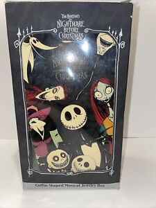 """The Nightmare Before Christmas Coffin Musical Jewelry Box """"What's This?"""""""