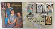 Benham 25.4.2002 Queen Mother FDC Signed JULIET AUBREY, Middlemarch & Primevil