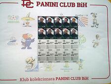 DENMARK TEAM MINI STICKERS EURO 2004 PANINI Uncut sheet TOP QUALITY Photocopy!