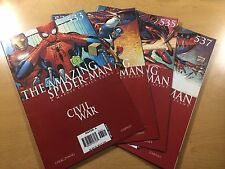 MARVEL Comics AMAZING SPIDER-MAN #533 534 535 537 KEY Civil War LOT Ships FREE!
