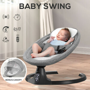 BoPeep Baby Swing Cradle Rocker Bed Electric Bouncer Seat Infant Remote Chair
