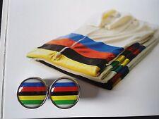 Vintage style World Champion Stripes Handlebar End Plugs