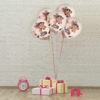 "10Pcs 12"" Confetti Latex Balloons Rose Gold Birthday Wedding Hen Party Decorate"
