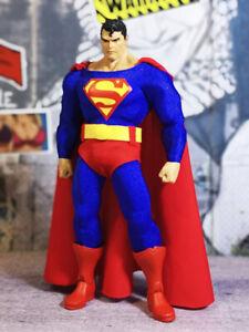 "1/12 6""Classic Superman Suit Cloths Belt Figure Custom Mcfarlane Toys Cape"