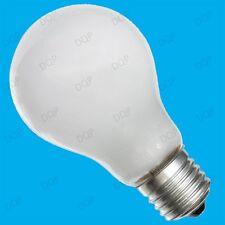 10x 100W Tungsten Filament Dimmable Pearl GLS Light Bulbs; ES E27 Rough Service