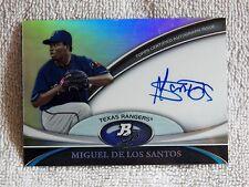 Texas Rangers Miguel De Los Santos Signed 2011 Bowman Platinum Card Auto