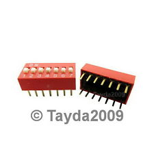 Dip Switch 7 Positions Silver Plated Contacts