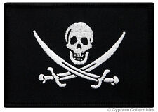 PIRATE FLAG iron-on PATCH JOLLY ROGER Skull Swords EMBROIDERED Calico Jack NEW