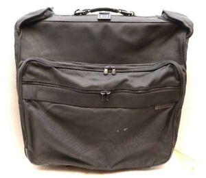 "Briggs & Riley Large Wardrobe luggage Rolling Black Wheeled Garment Bag 24"""