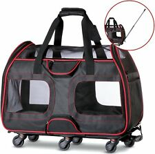 """50% OFF """"USED"""" Airline Approved Pet Carrier with Wheels 22X11X15"""""""