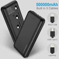 Power Bank 500000mAh 4USB External Backup Battery Charger For Mobile Phone AU
