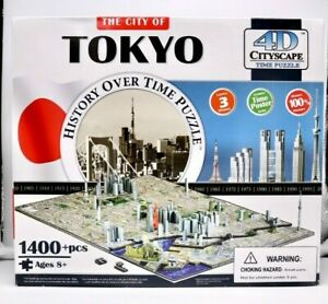 4D Cityscape Time Puzzle: The City Of Tokyo 1400+ Pieces New