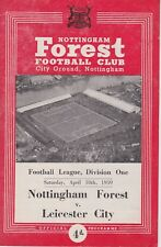 NOTTINGHAM FOREST v LEICESTER CITY ~ 18 APRIL 1959