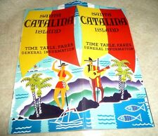 VINTAGE TIME TABLE SCHEDULES FARES AIRPLANE STEAM BOAT SANTA CATALINA ISLE 1939