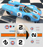 STICKERS POUR PORSCHE 917 #2 ECH 1/40 ou 1/32 (NO DECAL IDEAL SLOT) DCS024