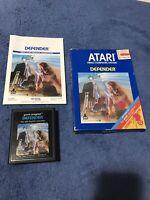 Defender (Atari 2600) - Complete in Box Manual & Game - Tested & Working CIB