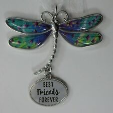 zzx Best friends forever Delightful Dragonfly Message Ornament Ganz