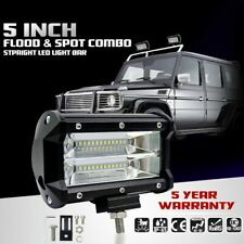 1x 5'' 72W LED Work Light Bar Flood Driving Lamp Jeep Truck Boat Offroad+Bracket