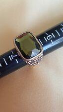 Luxurious NEW Lia Sophia KIAM VISIONAIRE Olivine Crystal Statement Ring-Size 8