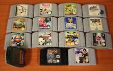 lot Nintendo 64 14 jeux loose + transfer pak tous tester ok