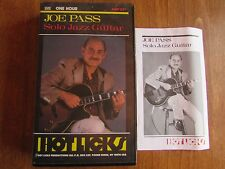 Joe Pass Solo Jazz  Guitar VHS with Tab