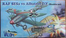 VALOM 1/144 RAF SE5a vs ALBATROS D.V (Double Set) WWI fighter kit. *NEW*