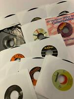 """45 RPM LOT 15 Random 7"""" Vinyl Records All Genres From The 50s On !Jukebox Hits!"""