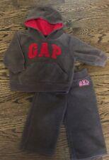 Boys 12-18m Baby Gap Fleece Hooded Sweatshirt And Pants Set