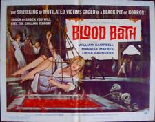 BLOOD BATH half sheet movie poster 22x28 HORROR BONDAGE 1966