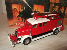 Rare Matchbox YFE07, 1938 Mercedes KS15 Fire Truck Diecast Model