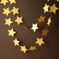 4m Bunting Banner Paper Star for Wedding Baby Shower Home Hanging Decoration