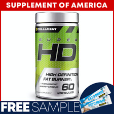 "Cellucor Super HD HIGH-DEFINITION FAT BURNER 60 Capsules ""FREE SHIPPING"""