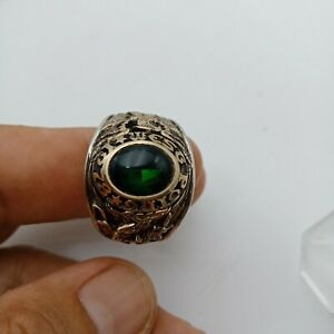 US Military Academy West Point Rings 1978  , Dark Emerald Stones