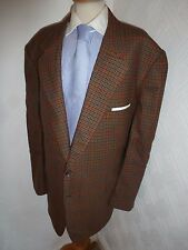 MENS 54 GIEVES & HAWKES TWEED CHECK WOOL SUIT JACKET HACKING SPORTS BLAZER COAT