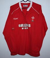 Wales national rugby union team womens shirt jersey Reebok Size 14
