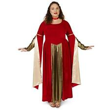 New Womens Ladies PLUS 1X Renaissance Medieval ballroom dress queen red Costume
