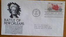 First day of issue 1965l,  Commemorting The Battle of New Orleans  #1261