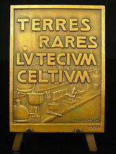 Medaglia Georges Urbano Terra rari earth lyttrium celtio scandio 1938 Medal
