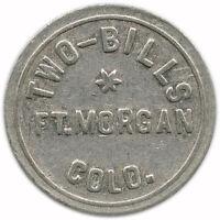Two-Bills Fort Morgan, Colorado CO 5¢ Trade Token