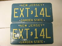 New Jersey NJ License Plate EXT-14L Pair