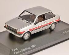 1981 FORD FIESTA Mk1 FESTIVAL in Silver 1/43 scale model by Whitebox