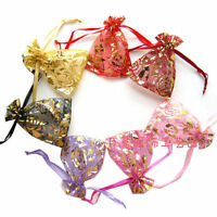 100 PCS Organza Jewelry Candy Gift Pouch Bags Wedding Party Xmas Favors Decor HU