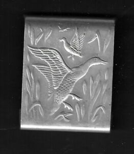 1940's Duck Hunting Theme Metal Matchbook Holder