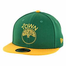 """New Era 950 Golden State Warriors """"The Town"""" Snapback Hat (KG/GD-GD) Men's Cap"""