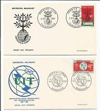 5 FDC 1er jour timbres 1964/65  Répoblika Malagasy  Madagascar /32