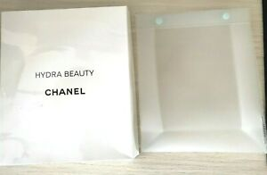 CHANEL COSMETIC / MAKEUP BAG transparent rubber Hydra Beauty VIP GIFT