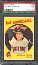 1959 Topps # 106 Hal Woodeshick PSA 7 NM Cleveland Indians