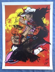 Coop Concert Poster One of a Kind Test Print 18x24 Signed, Charles Bukowski