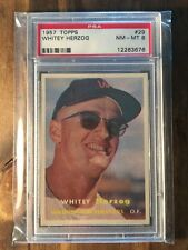1957 Topps Whitey Herzog #29 PSA 8 Washington Senators HOF